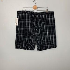 PGA Black Plaid Shorts Sz 4 NWT
